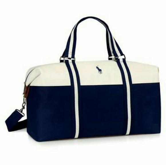 Ralph Lauren Canvas Duffle Bag Travel Gym Carry on